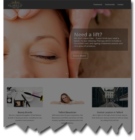 Salon, Hairdressers or Barbers Website